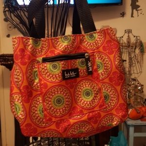 Lilly Bloom lunch tote